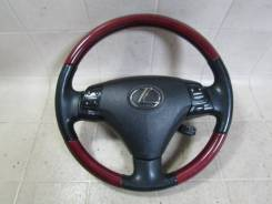 Оригинальный обод руля с косточкой под красное дерево Lexus