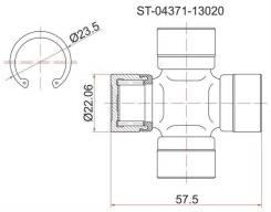 Крестовина кардана TOYOTA NOAH #R##/ST195/ST215/SV35/SUBARU FORESTER SF5 97-02 ST-04371-13020