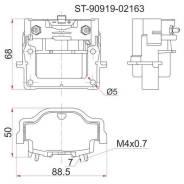 Катушка зажигания TY 3S-FE -96 ST19#/ST20#/SV4#, 4A/7A-FE -96 AT19#, 3RZ-FE 95- RZJ9#/RZN18# ST-90919-02163 SAT ST9091902163