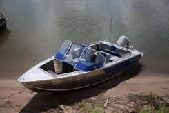 Алюминиевая лодка Салют 430Scout открытый носовой кокпит