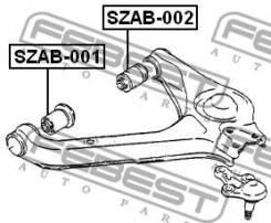Сайлентблок задний верхнего рычага подвески   перед прав/лев   Febest SZAB002
