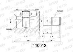 ШРУС подвески внутренний 27/32 INKO 410012