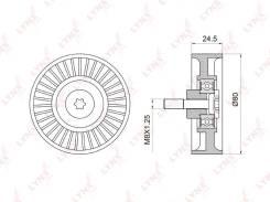 Ролик натяжной приводного ремня LYNXauto PB5024
