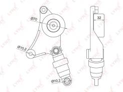 Ролик натяжной навесного оборудования |В наличии на складе! LYNXauto PT3043