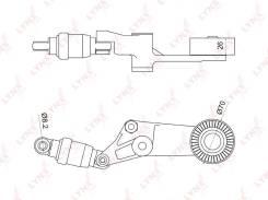 Натяжитель ремня навесного оборудования   В наличии! LYNXauto [PT3044]