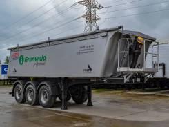 Grunwald. Алюминиевый самосвальный полуприцеп 27 м3 новый, 32 250кг.