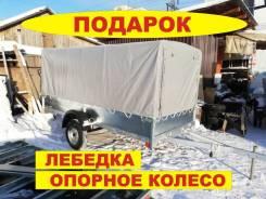 Прицеп для снегохода Б-3.4 ОЦ 340х150х40 с тентом Оцинковка