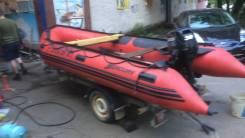 Продам лодку 4,3 метра Корея , мотор Suzuki 30 , прицеп