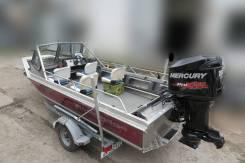 Алюминиевый водометный катер Wooldridge+ Mercury 150 + Прицеп