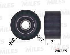 Ролик ремня приводного RENAULT LAGUNA/TRAFIC/OPEL MOVANO/ПОДХОДИТ ДЛЯ VOLVO S40 1.8-2.5D AG03071 miles AG03071 в наличии