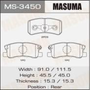 Колодки тормозные дисковые Masuma MS-3450