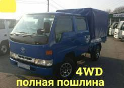 Toyota ToyoAce. 4WD, двухкабинник+ борт 1,5 тонны, 1 500кг., 4x4