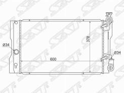 Радиатор Toyota Corolla / Matrix 08- / Pontiac VIBE 08- USA(пластинчат