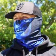 Баф от солнца и пыли Skull Tech™ Crow, SaCo, blue/black, синий/черный