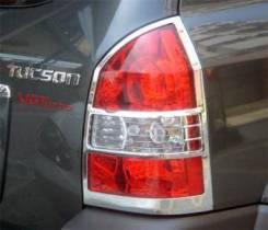 Хромированные накладки на задние фонари Hyundai Tucson 2004-2010 г.