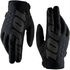 Перчатки 100% Brisker Glove утепленные размер: XL Black/Grey
