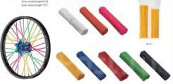 Spoke skin (ПВХ накладки на спицы), набор, желтый, Accel (Taiwan)