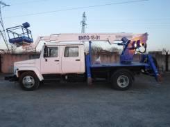 ГАЗ 3309. Автогидроподъёмник ВИПО-18.01 на шасси , 4 430куб. см., 18,00м.