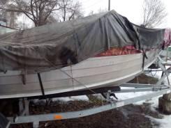 Моторная лодка Qvintrex 455 мотор Honda 50