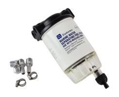 Фильтр топливный 10 мк с креплением и водосборником (малый)