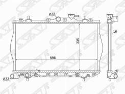 Радиатор Hyundai Accent / Excel 1.3 / 1.5 / 1.6 94-00(пластинчатый)