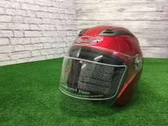 Мото Шлем открытый , Тайвань (бордовый) Отправка по РФ, размер-XL