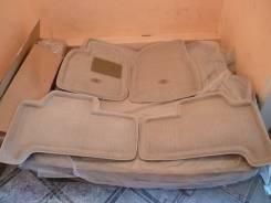 Ковры в салон бежевые 3D ворсовые с бортиком Land Cruiser 100