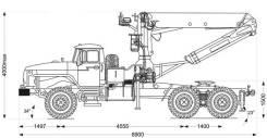 Инман ИФ 300. Седельный тягач с КМУ ИФ-300С, 6x6