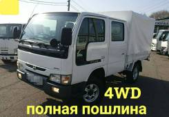 Nissan Atlas. 4WD, двухкабинник +борт 1,5 тонны, 3 200куб. см., 1 500кг., 4x4