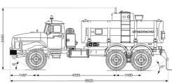 Урал 4320. АТЗ-10Б -60Е5, 6x6