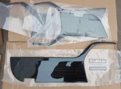 Накладки на обшивки дверей Land Cruiser 200/Lexus LX 570 Темные. нерж.