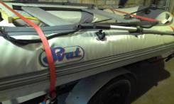Продам резиновую лодку с мотором и телегой