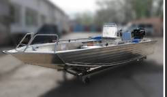 Водометная алюминиевая моторная лодка Гризли-47