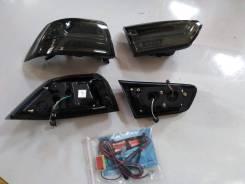 Стопы Mitsubishi Lancer X / Galant Fortis (стиль Audi A6) LED дымчатые