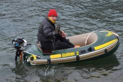 Лодка Intex Seahawk 4 метра + мотор 3,6 л. с. четырехтактный !