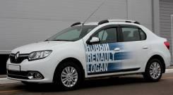 Дефлекторы окон (ветровики) Renault Logan 2014-
