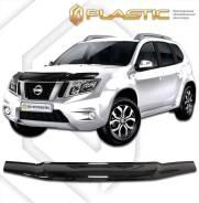Дефлектор капота Nissan Terrano 3 2013–н. в. (Мухобойка)