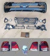 Рестайлинг комплект Land Cruiser 200(Ленд крузер)в 16год+стопы черный