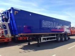 MEGA MNW 4. (самосвальный полуприцеп 50 м3 ССУ 1150 алюминий), 40 000кг.
