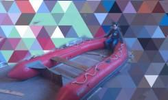 Надувная лодка пвх морская спасательная