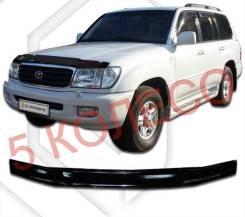 Дефлектор капота Toyota Land Cruiser(J100) 98-02 год черный (519)