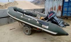 Продам лодку ПВХ с мотором и тележку