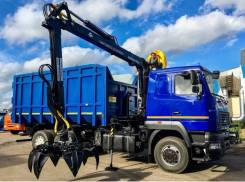 Ломовоз МАЗ-6312С5 кузов 30 куб., Майман-110S, захват ГЛ-6, 2018
