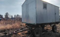 Кунг на тракторной телеге