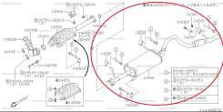 Глушитель. Suzuki Escudo, AT01W, TA01R, TA01V, TA01W, TA02W, TA11W, TA51W, TA52W, TD01W, TD02W, TD11W, TD51W, TD52W, TD32W, TD62W, TL52W G16A, H20A, J...