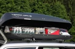 Автомобильный бокс на крышу Terra Drive 480 чёрный, серый