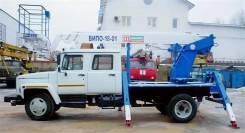 Випо-18. Автогидроподъемник ВИПО-18-01 на шасси ГАЗ-33098 (4х2)(5м. каб), 5 000куб. см., 18,00м.