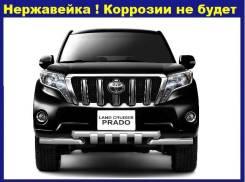 Защита переднего бампера с зубьями Toyota LAND Cruiser Prado 150