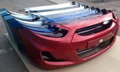 Новый бампер в цвет Hyundai Solaris 11- 865114L000, 865114L500