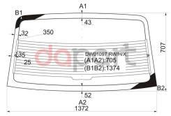 Стекло заднее с обогревом Ford Форд taurus 4d sedan 86-91 круглые углы XYG DW01097RW/H/X